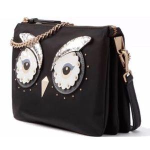 Authentic Kate Spade Nylon/leather owl crossbody